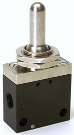 VTS-1-TF SMALL TOGGLE AIR SWITCH BODY UP/DOWN